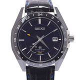 SEIKO Seiko Grand Limited to 500 Back Scale SBGE039 Men's Bright Titanium / Ceramic Leather Watch Automatic Dial