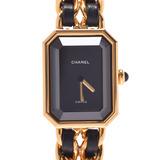 CHANEL Premiere Size L H0001 Ladies GP / Leather Watch Quartz Dial