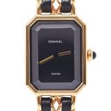 CHANEL Premiere Size M Ladies GP / Leather Watch Quartz Dial