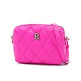 Balenciaga Shoulder Bag Touch Camera B Leather Pink 616060