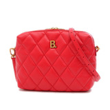 Balenciaga Shoulder Bag Touch Camera B Quilted Red 600325