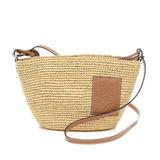 Loewe Raffia Pochette Shoulder Bag Natural 328.24W10