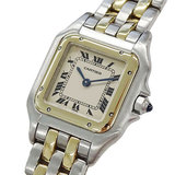 Cartier Watch W25029B6 Panther SM 2 Low Quartz Combi Ladies Polished