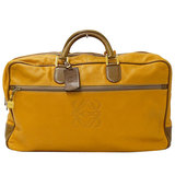 Loewe LOEWE Boston Bag Travel Leather Mustard Yellow Brown Ladies