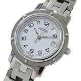 Hermes HERMES Watch CL4.210 Clipper Quartz Date Silver Ladies