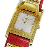 Hermes HERMES Watch Medor Gold Red Quartz Ladies