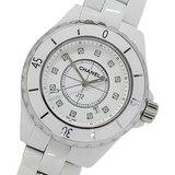Chanel CHANEL Watch H1628 J12 12P Diamond Quartz Date Ceramic White Ladies Polished