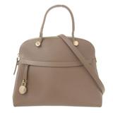 Furla FURLA Handbag Leather Greige