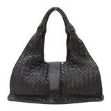 Bottega Veneta Intrecciato Handbag Leather Black 113087