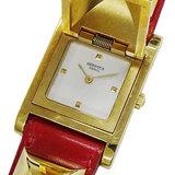Hermes HERMES Watch Medor Gold Red Quartz Ladies 〇X