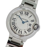Cartier Watch W69010Z4 Baron Blue SM Quartz Ladies Polished