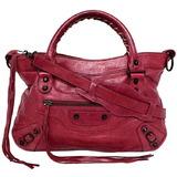 Balenciaga 2way The City Red 115748 Handbag Tote Bag Leather BALENCIAGA Shoulder Ladies