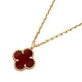 Van Cleef & Arpels Sweet Alhambra Pendant VCARN59M00 Necklace K18 Au750 RG Rose Gold Carnerian Accessory