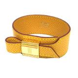 Hermes HERMES Artemis bracelet Kushbel M size □ B engraved yellow men's women's unisex accessories