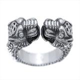 グッチ(Gucci) タイガーヘッド リング シルバー925 指輪・リング ブラック