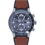 Tag Heuer Carrera 01 CAR201W self-winding watch SS / leather rubber gray dial 0006TAG HEUER men's