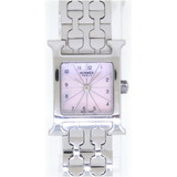 Hermes H Watch Shell Dial HH1.110 Quartz SS Pink 0029HERMES Ladies