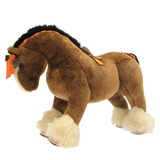 Hermes Hermy MM Plush Acrylic Brown Horse 0041 HERMES