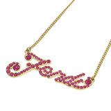 Fendi Motif Necklace Metal Ladies