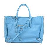 Balenciaga 370926 Paper Mini 2WAY Handbag Leather Ladies