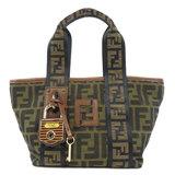 Fendi Zucca Handbag Canvas Ladies