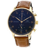 IW371415 Portugieser Complete Watch K18 Pink Gold Leather Men's