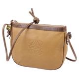 Loewe LOEWE Bag Anagram Shoulder Crossbody Calf Leather Genuine Beige