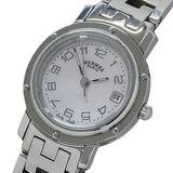 Hermes HERMES Watch CL4.210 Clipper Nacre Shell Quartz Date Ladies Polished