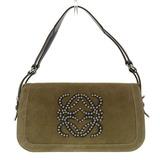 Loewe LOEWE One Shoulder Bag Suede Brown Studs