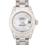 Rolex ROLEX Datejust 179239NG K18WG Diamond K No. Ladies Watch Automatic Shell Dial