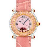 Chopard Happy Sport Pink Diamond Bezel K18PG / WG Ladies Watch Quartz Shell Dial 27/6244/401
