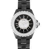Chanel CHANEL J12 Diamond Bezel SS Black Ceramic Men's Watch Automatic Dial H1709