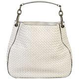 BOTTEGA VENETA Shoulder Bag Intrecciato One Leather White 494119