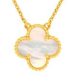 Van Cleef & Arpels Alhambra Mother of Pearl Pendant K18YG Necklace