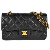 Chanel CHANEL Double Chain Shoulder Bag Matrasse 23 W Flap Lambskin Black A01113