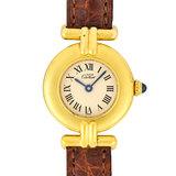 Cartier Must Collise Vermeil SV925 Ladies Watch Quartz Ivory Dial 590002