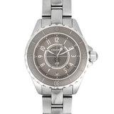 Chanel CHANEL J12 Chromatic Titanium Ceramic SS Ladies Watch Quartz Gray Dial H2978