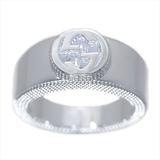 Gucci インターロッキングG Silver 925 Casual Band Ring Silver