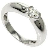 Cartier Diamond # 49 Ring / K18 White Gold Ladies CARTIER