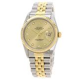 Rolex 16233G Datejust 10P Diamond Watch Stainless Steel / SSxK18YG Men's ROLEX