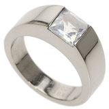 Cartier Tank Ring Moonstone # 49 / K18 White Gold Ladies CARTIER