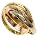 Cartier Trinity # 56 Rings / K18 Yellow Gold K18PG K18WG Ladies CARTIER