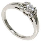 Cartier Ballerine Diamond # 48 Ring / Platinum PT950 Ladies CARTIER