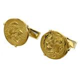 Piaget Hans Erni Coin Cufflinks K18 Yellow Gold / K24 YG Men's PIAGET
