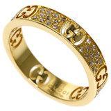 Gucci Icon Stardust Diamond # 12 Ring / K18 Yellow Gold Ladies GUCCI