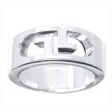 Gucci GG Logo Silver 925 Band Ring Silver