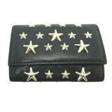 Jimmy Choo Studs 6 Series Ladies Key Case Leather Black