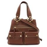 BVLGARI Bvlgari Maxi Rettare Handbag Shoulder Bag 2WAY Leather Brown