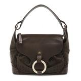BVLGARI Bulgari Mania Shoulder Bag Semi-shoulder One-shoulder Handbag Canvas Leather Brown
