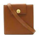 BVLGARI Bvlgari Shoulder Bag One Semi-shoulder Leather Camel Light Brown